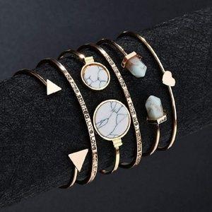 Jewelry - ‼️2/$25‼️6 Piece Stackable Bangle Bracelets